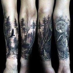 Bildergebnis für forest tattoo