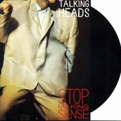 Vintage Talking Heads Stop Making Sense Live New Wave Album Record Vinyl LP Cool Album Covers, Music Album Covers, Music Albums, Music Books, Music Music, Music Icon, Rock Music, Jazz, Vinyl Lp