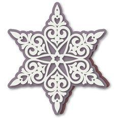 Silhouette design Store - View design # 112393: sněhová vločka srdce cut práce karta
