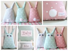 bunny softies - not a tutorial