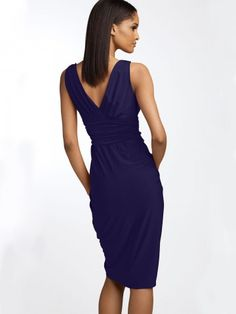 US $89.99 | (FITS019836 )2012 Style Sheath / Column V-neck Ruffles Sleeveless Knee-length Chiffon Little Black Dresses