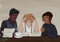 I need a scene in Six of Crows where the gang helps Wylan learn to read, okay. It's really important to me.