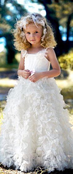 White Flower Girl Dresses for Weddings