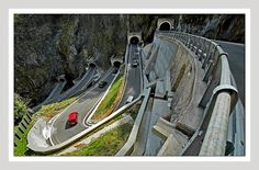 Passo San Boldo / Italy ... ahhh, winding Italy! This one is so f#$* much on my list when we drive to Venice later this year. It would perfectly match the Stelvio! ;)