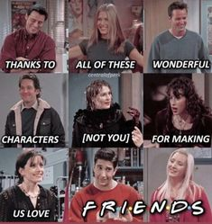 Friends fan - You❤️ - Humor Friends Fan, Friends Funny Moments, Friends Tv Quotes, Friends Scenes, Friends Poster, Funny Friend Memes, Friends Episodes, I Love My Friends, Friends Tv Show