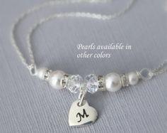 CUSTOM Champagne Pearl Bridesmaid Bracelet by alexandreasjewels