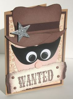 Loves Rubberstamps Blog: WANTED - Punch Art Card