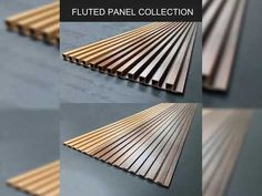 Create clean, crisp, continuous channels and shadow lines with Fluted Panel. Wood Slat Wall, Wood Slats, Wooden Walls, Wood Paneling, Wooden Wall Panels, Wooden Wall Design, Tv Wall Design, Ceiling Design, Ideas Paneles