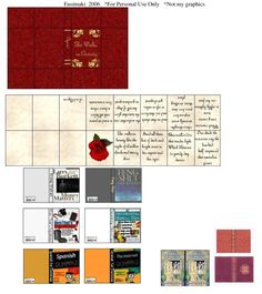 Books 3 - Website devoted to 1/12th scale miniature dollhouse printables (printies)!