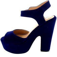 Mujer Correa Tobillo Zapatos Plataforma Tacones Faux Gamuza Sandalias…