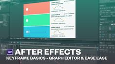 Introduction to keyframes in After effects (Easy ease + Graph editor)