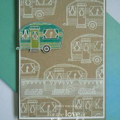 For The Love of Stamps Hunky Dory, Love Stamps, Creative Cards, Hobbies And Crafts, Caravan, Letting Go, Cardmaking, Trains, Stamping