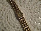 Vintage Anne Klein Goldtone Bracelet Watch Diamond Quartz Sapphire Accent - http://designerjewelrygalleria.com/anne-klein-jewelry/anne-klein-bracelets/vintage-anne-klein-goldtone-bracelet-watch-diamond-quartz-sapphire-accent/