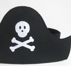 Felt Pirate Hat and Eye Patch by TwoLittleBluebirds on Etsy, $20.00