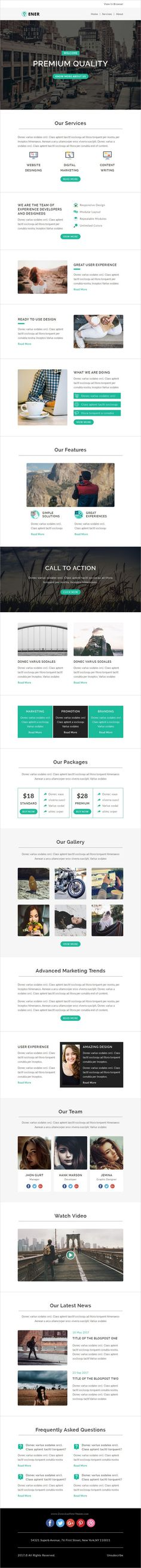 Breaker for Construction Company - Email Template PSD e - email newsletter template