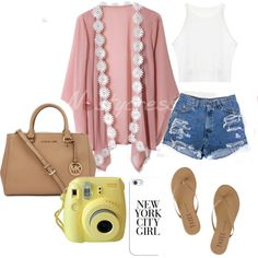 outfit #103 by tayviacook on Polyvore featuring polyvore fashion style Tkees Michael Kors Casetify