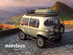 Designed by Brazilian designer, Eduardo Galvani, the Nimbus e-Car could possibly be the cutest hybrid vehicle of the future.