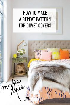 #DIY How to Make A Repeat Pattern for Duvet Covers: Ever wanted to design your own bedding? Want a custom look to match your favorite artwork, decorations, or the paint on your walls? With this tutorial, learn how to custom-design a patterned duvet cover with Redbubble, where every item is print-on-demand and made just for you.
