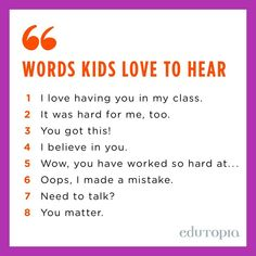 Word kids love to hear. You Matter, Teacher Quotes, Making Mistakes, Teaching Tips, Education Quotes, Believe In You, Work Hard, Growing Up, Self