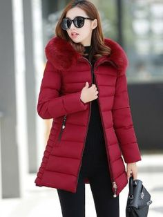 New 2017 Winter Coat Women Long Parkas Warm Coat Thickening Cotton Wadded Jacket Womens Outwear Parkas For Women Winter Outwear Warm Outfits, Winter Fashion Outfits, Winter Coats Women, Winter Jackets, Long Parka, Mantel, Jackets For Women, Clothes, Warm Coat