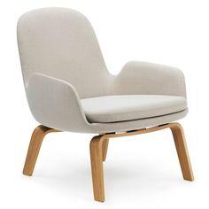 Era Lounge Chair Low loungestoel met eiken onderstel | Normann Copenhagen