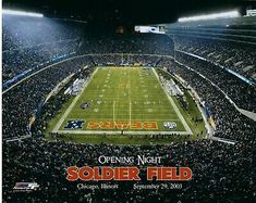 SOLDIER FIELD HOME OF THE CHICAGO BEARS 5x7 Photo FRAMED TO 8x10
