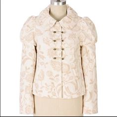 Anthropologie Rare Elevenses Latte Art Jacket Sz 4