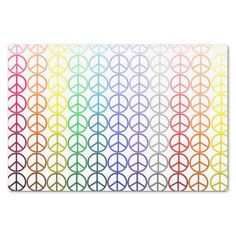 Rainbow Peace Signs Tissue Paper