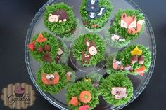 Woodland animals -  cupcakes