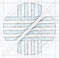 Working drawing - logo for Hospital of Saint Raphael, New Haven, CT (1984) Copyright © Keith Lovell