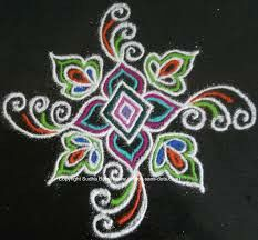 ✩ Check out this list of creative present ideas for coffee drinkers and lovers Rangoli Colours, Rangoli Designs Diwali, Rangoli Designs With Dots, Kolam Rangoli, Flower Rangoli, Beautiful Rangoli Designs, Kolam Designs, Quilling Designs, Mehndi Designs