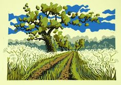 Mark A Pearce Lake District artist - paintings for sale - original linocut prints