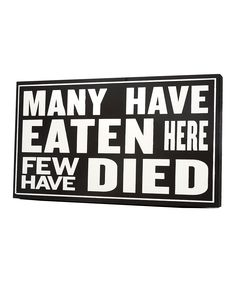 Omg I want this for my kitchen wall with all my signs hahaha