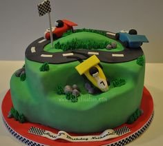 Race Car Cake by Stephanie (Cake Fixation), via Flickr