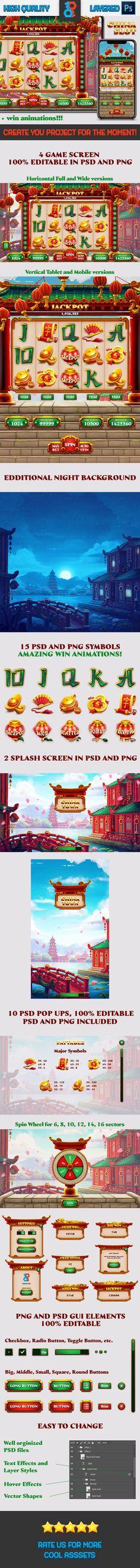 Game Gui, Game Icon, Splash Screen, Special Symbols, Casino Games, Colorful Fashion, Slot, Video Game, Animation
