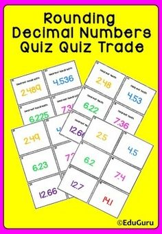 This Rounding Decimals Game is a collaborative learning tool that supports students to have fun while practicing the rounding of decimal numbers.  WARNING: This can lead to students having too much fun and wanting more!