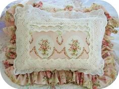 Love the multiple rows of lace trim.
