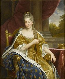 A portrait of Françoise Marie de Bourbon, the legitimized daughter of Louis XIV and his mistress the marquise de Montespan, by Alexandre François Caminade. This portrait was created in during the reign of her great-great grandson, Louis Philippe I. Louis Xiv, French History, Art History, Bourbon, Ludwig Xiv, Victorian Portraits, French Royalty, Historical Art, Historical Clothing