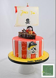 Cake for boys Pirate - Gateau D'anniversaire Pour Enfants Garcon Pirate - Verjaardagstaart