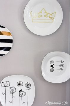 diy wall plates, crafts, wall decor