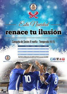 Campaña de Socios II vuelta 14/15 Esta Navidad renace tu ilusión El Xerez Deportivo FC pone en marcha la campaña para la segunda vuelta a unos precios totalmente asequibles. Por sólo 20€ puedes disfrutar de hasta nueve partidos en Chapín.