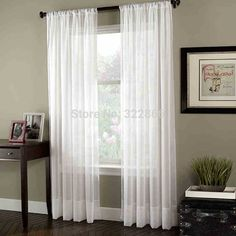 Cheap curtain design for window, Buy Quality window curtain cloth directly from China curtain electric Suppliers: BHD soild white tulle sheer window curtains for living room the bedroom modern tulle organza curtains fabric blinds drapes Voile Panels, Sheer Curtain Panels, Panel Curtains, Window Blinds, Blackout Curtains, Sheer Blinds, Sheer Drapes, Fabric Blinds, Curtain Fabric