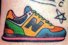 New Balance shoes tattoo