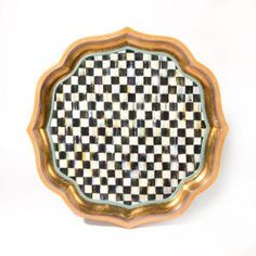 Courtly Check Serving Tray - 22''
