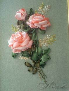 Gallery.ru / Желтые розы - Вышивка лентами 3 - katirinka