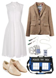 """""""Doctor Who"""" by staysaneinsideinsanity ❤ liked on Polyvore featuring Diane Von Furstenberg, Joules and Hobbs"""