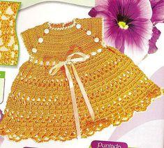 Orange Sun Dress free crochet graph pattern