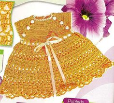 Orange Sun Dress free crochet graph pattern