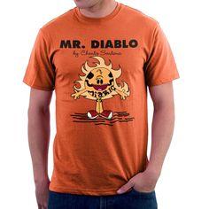 TopNotchy Mr Diablo By Chato Santana El Diablo Suicide Squad Mr Men Men's T-Shirt