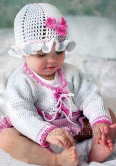 белый жакет и панамка для девочки----- klikni